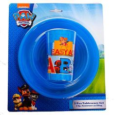 BOYS PAW PATROL TABLEWARE SET 3 PIECE Paw Patrol, 3 Piece, Abs, Mini, Tableware, Character, Accessories, Products, Crunches