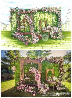 70 elegant wedding decorations for your big day 4 – Wedding Ideas Reception Decorations, Event Decor, Photowall Ideas, Wedding Drawing, Wedding Stage, Wedding Reception, Arte Floral, Flower Wall, Wedding Designs