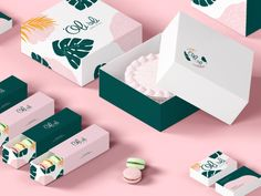 'Oli'oli on Packaging of the World - Creative Package Design Gallery Cake Boxes Packaging, Baking Packaging, Food Packaging Design, Packaging Design Inspiration, Brand Packaging, Branding Design, Jewellery Packaging, Patisserie Vegan, Cake Branding