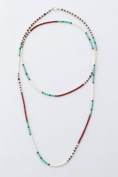 Coyote Heishi Bead Necklace – Long - Spell Designs