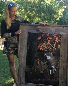 Big buck wildlife painting #customart #wildlifepainting #acrylicpainting #canadianartist #ontarioartist #buckpainting #deerpainting #barnboardframe #girlsthatpaint #rusticart #cabinart #fallpainting #acrylic #custompaintings #northernontarioartist Wildlife Paintings, Autumn Painting, Rustic Art, Canadian Artists, My Photos, Relax, Girly, Texture, Big