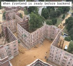 When frontend is ready before backend. St Elizabeth Hospital, Washington Dc, Cool Pictures, Funny Pictures, Random Pictures, Adaptive Reuse, Web Design Tips, Design Ideas, Old Buildings