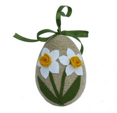 Check out our ornaments & accents selection for the very best in unique or custom, handmade pieces from our shops. Felt Crafts, Easter Crafts, Diy Crafts, Egg Art, Egg Decorating, Flowering Trees, Spring Crafts, Easter Eggs, Projects To Try