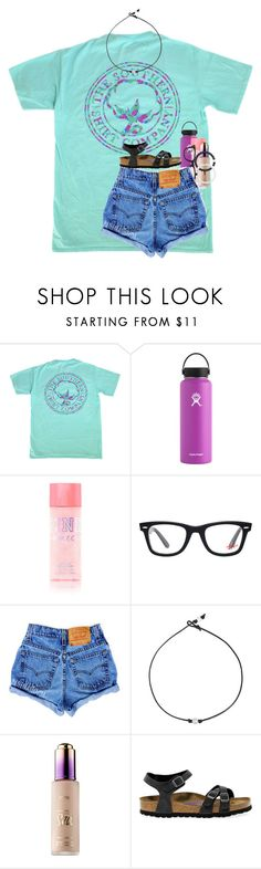"""""""105 is the number that comes to my head, when i think of all the years i wanna be with you"""" by kyliegrace ❤ liked on Polyvore featuring Hydro Flask, Ray-Ban, tarte, Birkenstock and Lokai"""