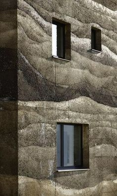 Mierta Kurt Lazzarini Architekten, rammed earth construction