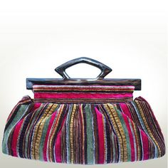 THE CLUTCH BAG Handmade from a Tapestry Striped by doritberger, $245.00