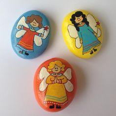 #taş #tasboyama #taşboyama #melek #angel #beautiful_stones #elyapımı #handmade…