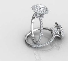 Harry Winston Inspired Halo Ring Engagement Rings