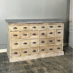 Antique Furniture | Antique Buffets and Sideboards | Antique Cabinets | Antique Marble Top Pharmacy Counter | www.inessa.com