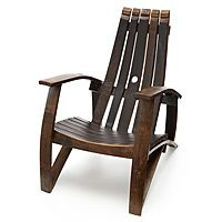Wine Barrel Chair...I saw something like this at Carhartt Winery and fell in love. My front porch is calling for four of these.