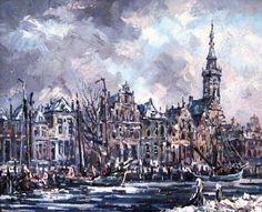 Winter in Veere, 1973, Willem van Dijk
