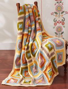 Yarnspirations.com - Patons Patchwork Blanket - Patterns  | Yarnspirations