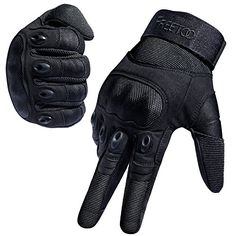 FREETOO Tactical Gloves Military Rubber Hard Knuckle Outdoor Gloves for Men Full Finger Gloves Black (L) - If you are looking for gloves featured with both protection and dexterity, FREETOO Tactical Gloves might be a good choice for you with some appealing advantages: 1. The original seller of such tactical gloves and the No.1 best seller with great customer reviews for more than two years. 2. Detail ...