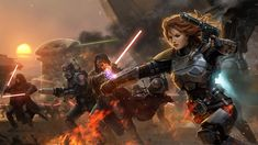 Star Wars Old Republic BioWare - Women are so often shown as scantily clad in SciFi artwork I thought I'd post a few great images to counter that. Here's 7 of 10.
