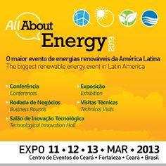 Evento sobre energias renováveis http://www.cbrsolucoesemenergia.com/eventos/all-about-energy-2013  Menos