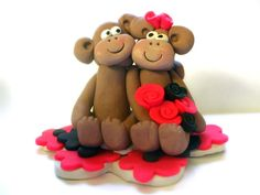 Monkey wedding cake topper  $35
