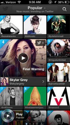Twitter #music Screenshots