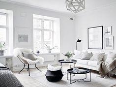 bright Scandinavian Living Room design