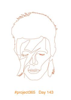 Day 143 One line drawing. 'Aladdin Sane. I like this one a lot. Can't wait to get a fresh canvas and paint it. Still can't quite get my head that we live in a Bowieless world 😔 #project365 #fabcow #francisleavey #aladdinsane #davidbowie #onelinedrawing #continuousdrawing