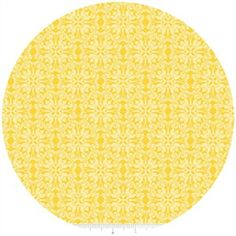Yellow Michael Miller fabric for the nursery.