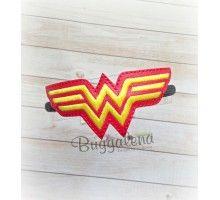 Lady Hero BuggaBand Headband Slider Embroidery Design
