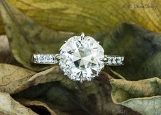 Engagement Rings with European Cut Diamonds by Ken & Dana Design