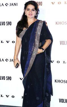 Shaina NC at a fashion event. #Page3 #Fashion #Style #Beauty #Hot #Saree Saree Dress, Sari, Bachchan Family, Bookshelf Design, My Crush, India Beauty, Beauty Women, Bollywood, Celebs