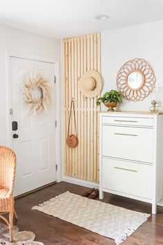 Looking to add something new to your home decor? Try this look by @knots.and.pots.home by adding a faux pampas grass wreath to your neutral home decor. Shop this look at Afloral.com.
