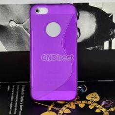 $3.30 Purple S-Line TPU Silicone Gel Shell Cover Protective Case For Apple iphone 5 5th 5G