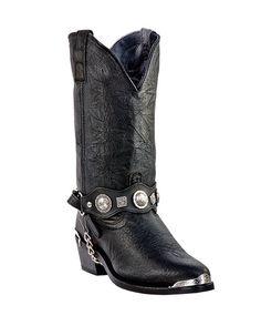 Details about  /Mens Black Plain Grain Leather Classic Western Cowboy Boots Casual Roper Style