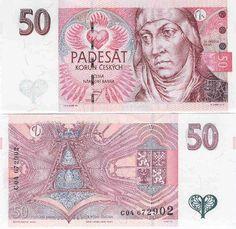 czech republic currency | Czech Republic 50 Korun 1997 - Czech Currency Bank Notes, Paper Money ...
