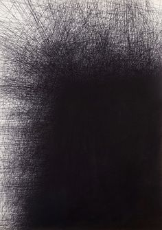 Ink by artist Il Lee. #art #abstract #scribbles #dark