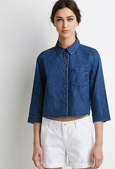 Cotton Denim Shirt | Forever 21 - 2002247995