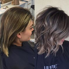 99 Perfect Balayage Hair Color Ideas For 2019 To Try This Year Brown Blonde Hair, Brunette Hair, Blonde Balyage, Grey Brown Hair, Brunette Color, Ombre Hair, Balayage Hair, Haircolor, Purple Hair