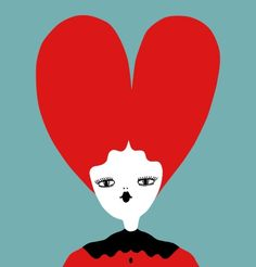 """By La Fille Bertha, Illustrator and Street Artist. """"As in the artwork """"Too Much Heart.."""", my stories aim to catch brief emotions and sudden espressions of figures lost in their own world. These figures reflect much of what I am as a person"""".  http://www.yeseya.it/blog/visioni/82/visione-41.html"""