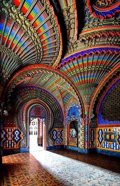 The Peacock Room - Castello di Sammezzano in Reggello, Tuscany, Italy Places In Italy, Oh The Places You'll Go, Places To Travel, Places To Visit, Beautiful Buildings, Beautiful Places, Tuscany Italy, Venice Italy, Dream Vacations
