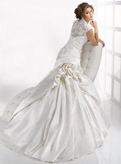 Sottero and Midgley: Chantilly | Wedding Dress | Lace Back | Drop waist waistline | Dramatic Skirt |