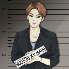 (cr: https://instagram.com/vickysyjoong/) (pic: https://instagram.com/p/2gysRRvYyr/) exo xiumin fanart Xi Vocal Crime Scene 2
