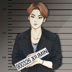 (cr: https://instagram.com/vickysyjoong/) (pic: https://instagram.com/p/2gysRRvYyr/) exo xiumin fanart Xi Vocal Crime Scene 2