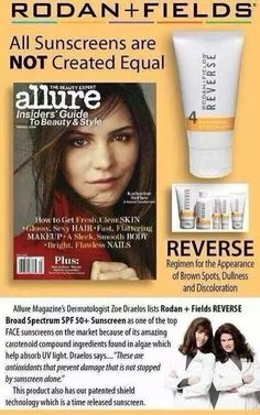Not all sunscreens are the same! Rodan+Fields is the Best!! Message me to get yours!