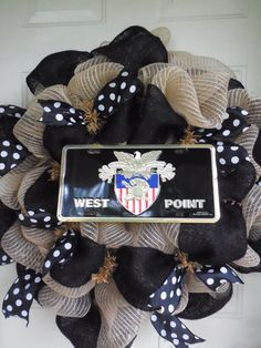 Reserved Custom Listing for 2 West Point Mesh & Burlap Wreaths