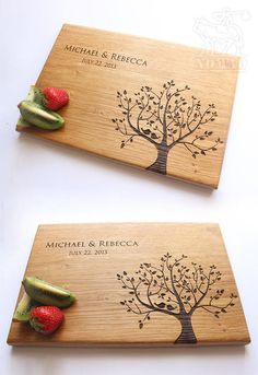 Hey, I found this really awesome Etsy listing at https://www.etsy.com/listing/232950892/personalized-cutting-board-tree-birds