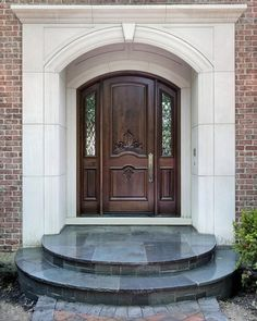 Beautifully stained front door