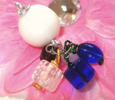 Assemblage Pendant Artistic Wire  White Purple Blue by Aquaiguana, $15.00