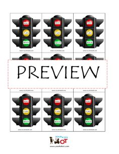 Traffic Light Planning: Stop, Think, Do and Read, Plan, Write. $2.50 Your Kids OT Shop