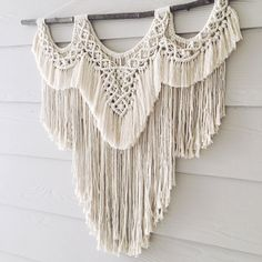 Lavender Large macramé wall hanging by WovenWhale on Etsy