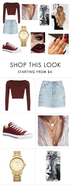 """Untitled #262"" by ignoredpest on Polyvore featuring WearAll, Yves Saint Laurent, Converse, Topshop and Casetify"