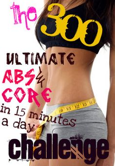 Gilded TBags Blog: This is Sparrttaa! Challenge Accepted. Ab workout to fit into my weekly routine