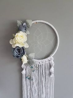 This item is unavailable Blue Dream Catcher, Tattoo Themes, Dreamcatchers, Baby Boy Nurseries, Blue Wedding, Motto, Macrame, Craft Projects, My Etsy Shop