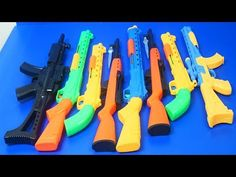 Guns Box Toys Military & police equipment–(Toys videos for kids Nerf Gun Toy